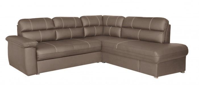 Rohová sedací souprava Rohová sedačka rozkládací Cordoba pravý roh (kongo 722/šedá)