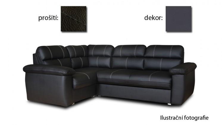 Rohová sedací souprava Rohová sedačka rozkládací Cordoba univerzální (soft 020/šedá)