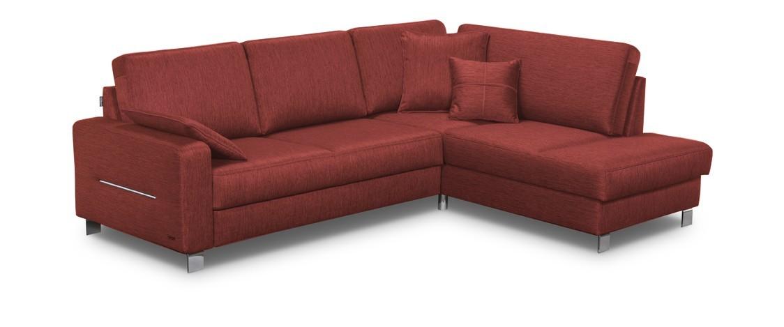 Rohová sedací souprava Rohová sedačka rozkládací Costa pravý roh (hamilton 2816,červená)