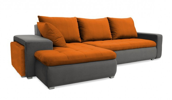 Rohová sedací souprava Rohová sedačka rozkládací Demi levý roh (korpus-bella 14, látka)