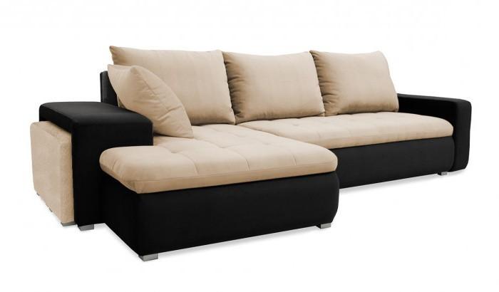 Rohová sedací souprava Rohová sedačka rozkládací Demi levý roh (korpus-bella 15, látka)