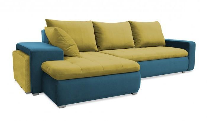 Rohová sedací souprava Rohová sedačka rozkládací Demi levý roh (korpus-bella 8, látka)