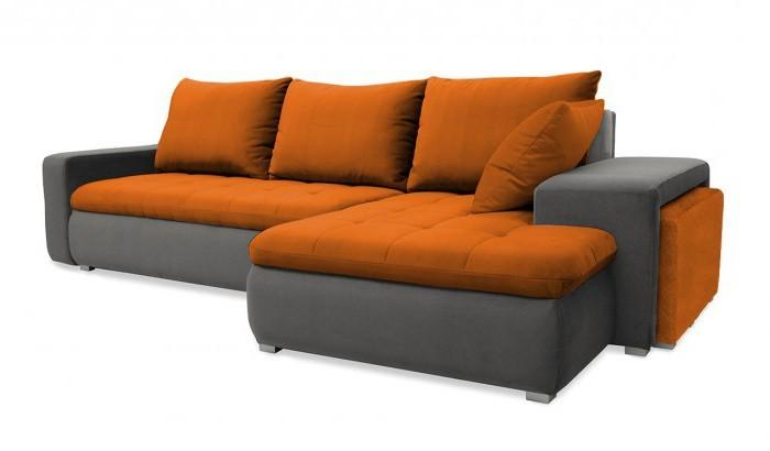 Rohová sedací souprava Rohová sedačka rozkládací Demi pravý roh (korpus-bella 14,látka)