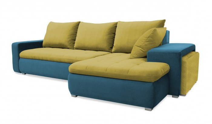 Rohová sedací souprava Rohová sedačka rozkládací Demi pravý roh (korpus-bella 8, látka)
