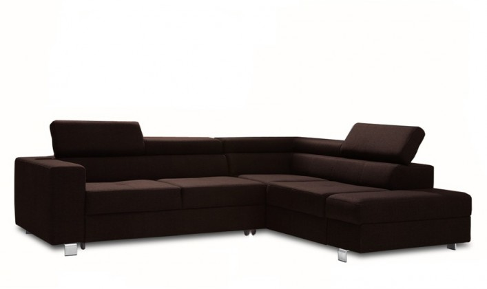 Rohová sedací souprava Rohová sedačka rozkládací Enzo pravý roh (látka)