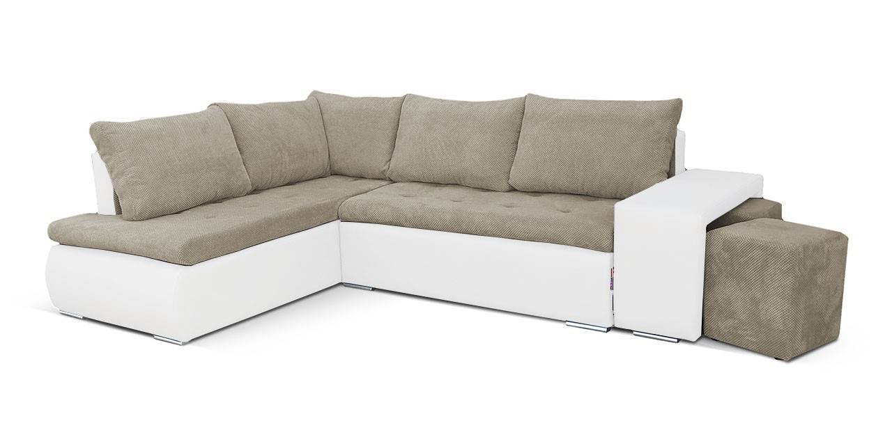 Rohová sedací souprava Rohová sedačka rozkládací Kris levý roh (korpus - soft 17)