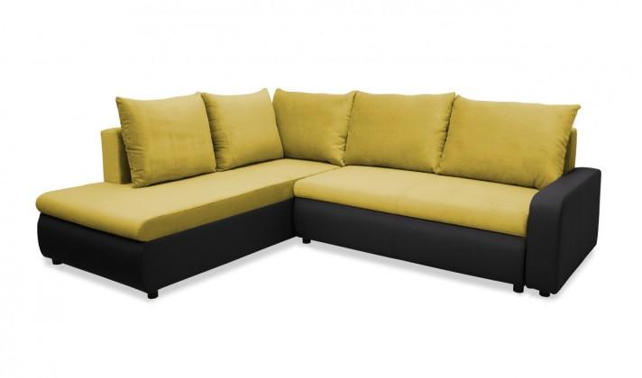 Rohová sedací souprava Rohová sedačka rozkládací Linz levá (korpus-bella 15, látka)
