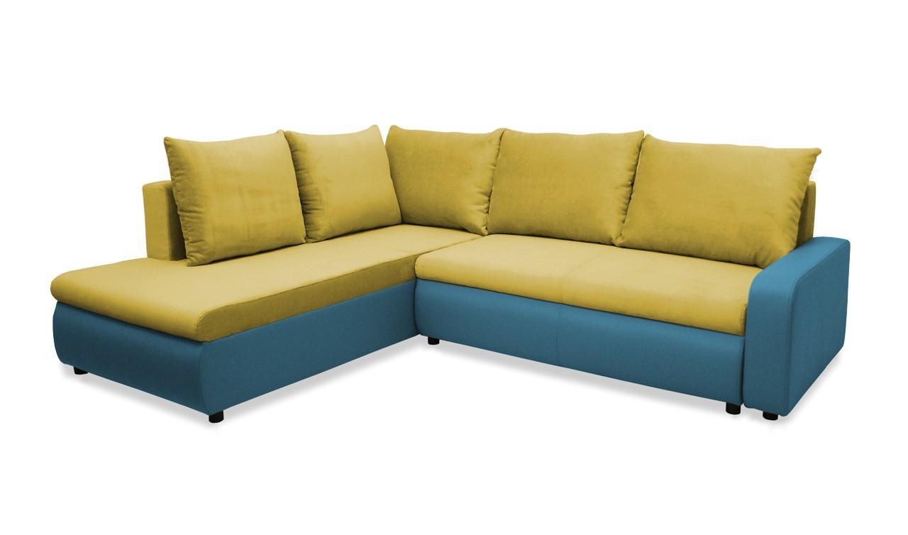 Rohová sedací souprava Rohová sedačka rozkládací Linz levá (korpus-bella 8, látka)