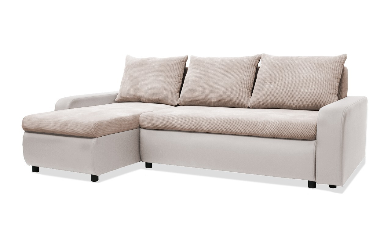 Rohová sedací souprava Rohová sedačka rozkládací Linz levý roh (korpus-bella 12,látka)