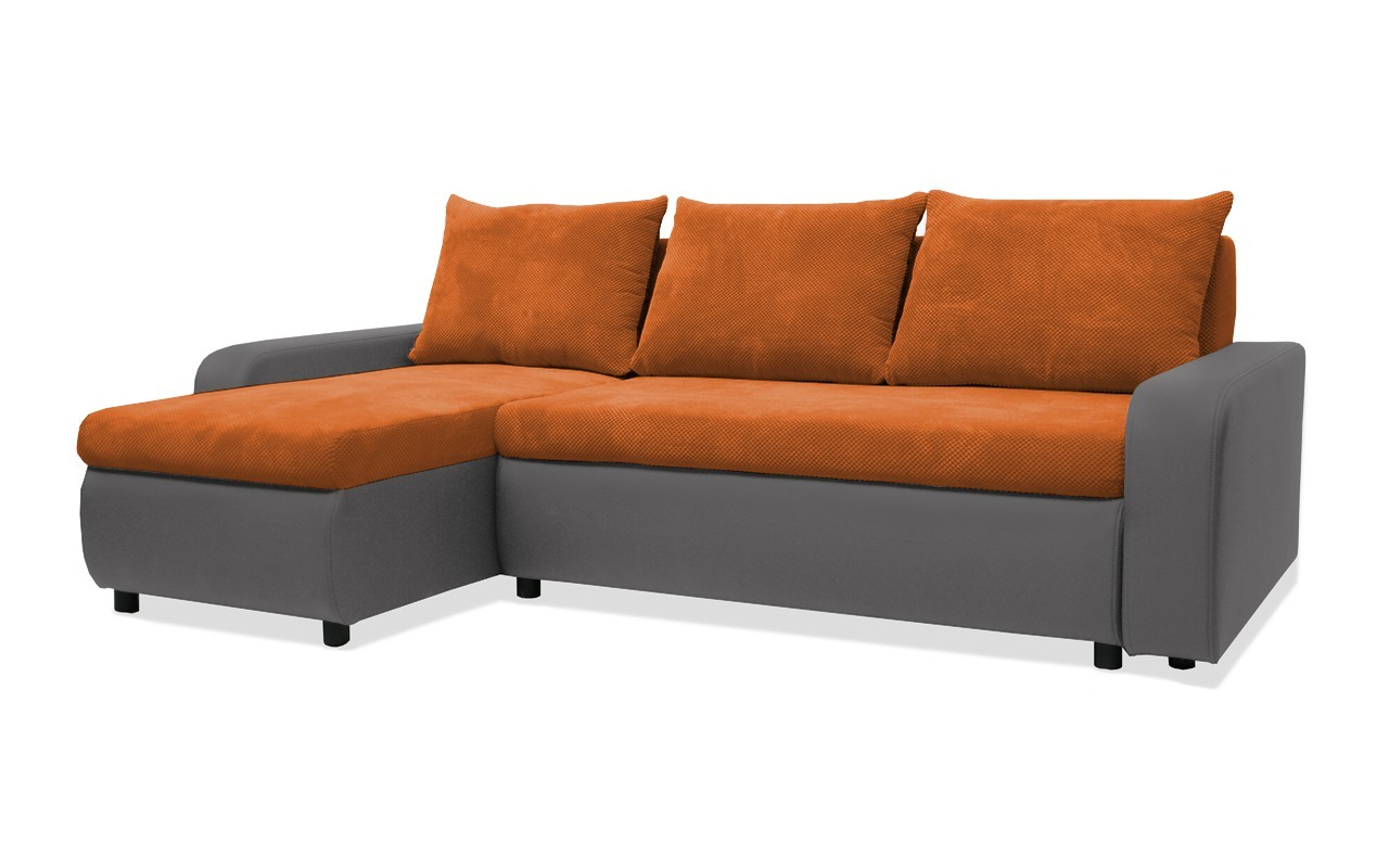 Rohová sedací souprava Rohová sedačka rozkládací Linz levý roh (korpus-bella 14,látka)
