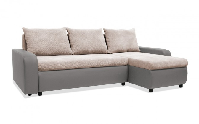 Rohová sedací souprava Rohová sedačka rozkládací Linz pravý roh (korpus-bella 13,látka)