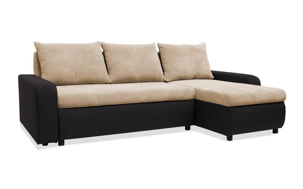 Rohová sedací souprava Rohová sedačka rozkládací Linz pravý roh (korpus-bella 15,látka)
