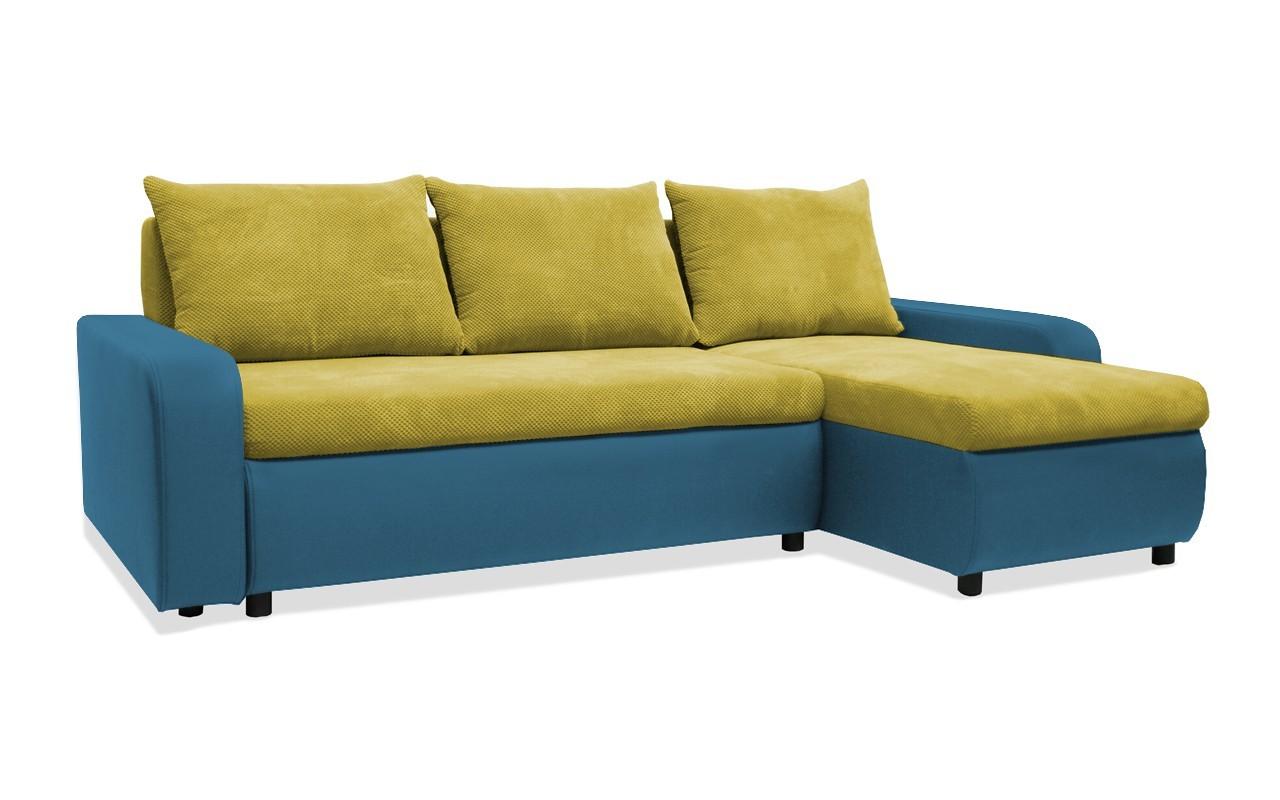 Rohová sedací souprava Rohová sedačka rozkládací Linz pravý roh (korpus-bella 8, látka)