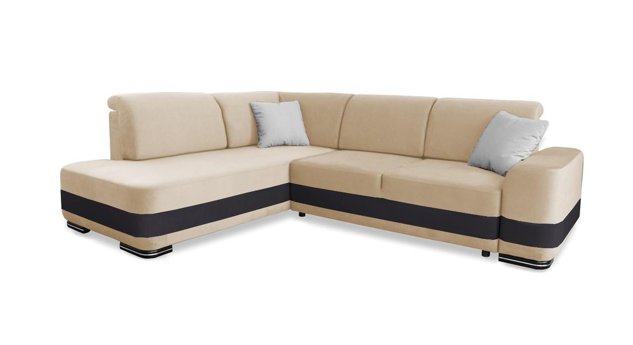 Rohová sedací souprava Rohová sedačka rozkládací Logan levý roh (doti 21)