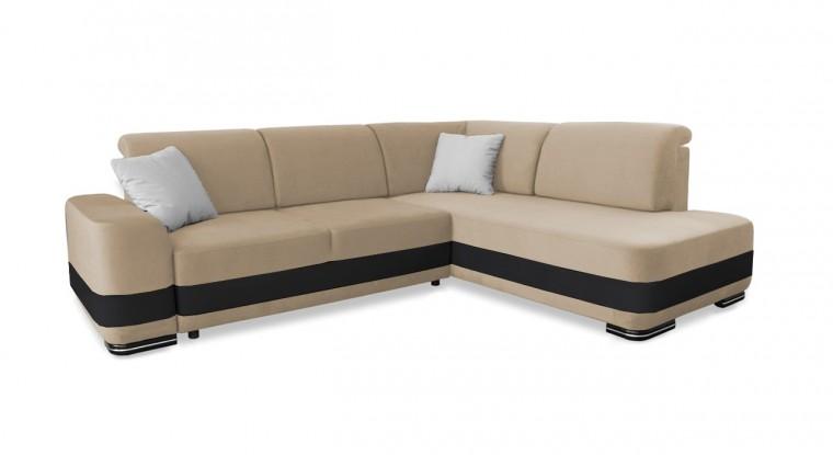 Rohová sedací souprava Rohová sedačka rozkládací Logan pravý roh (bella 1)