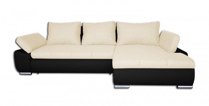 Rohová sedací souprava Rohová sedačka rozkládací Loona pravý roh (madryt 1100/sun 21)
