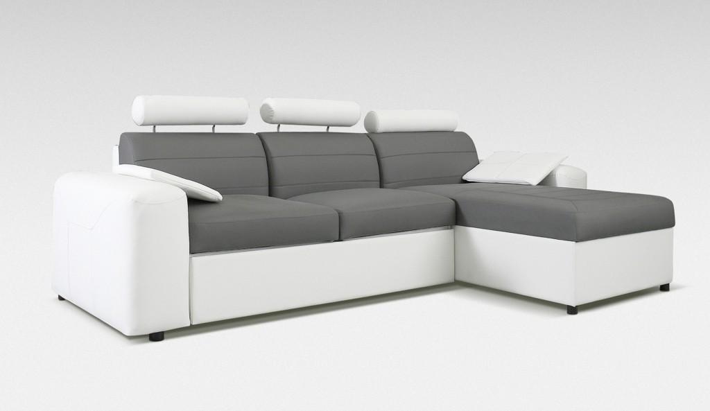 Rohová sedací souprava Rohová sedačka rozkládací Mega-L pravá (cayenne 1115, eko kůže)