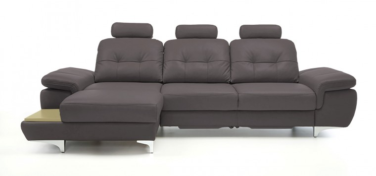 Rohová sedací souprava Rohová sedačka rozkládací Move levý roh, 3xP (dub/eko kůže)