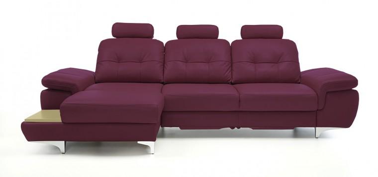 Rohová sedací souprava Rohová sedačka rozkládací Move levý roh, 3xP (dub/kůže)