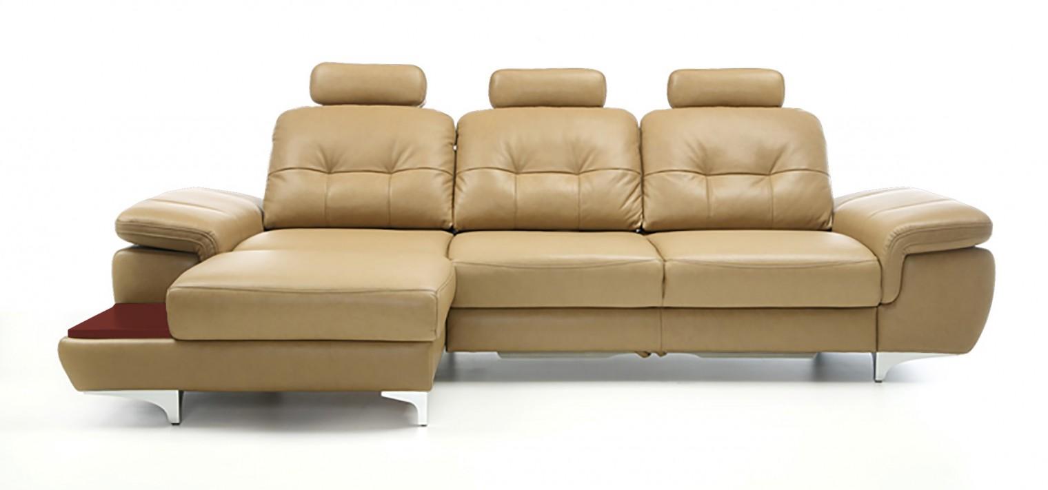 Rohová sedací souprava Rohová sedačka rozkládací Move levý roh, 3xP (mahagon/eko kůže)