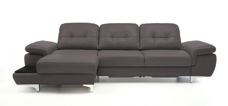 Rohová sedací souprava Rohová sedačka rozkládací Move levý roh (černá/eko kůže)
