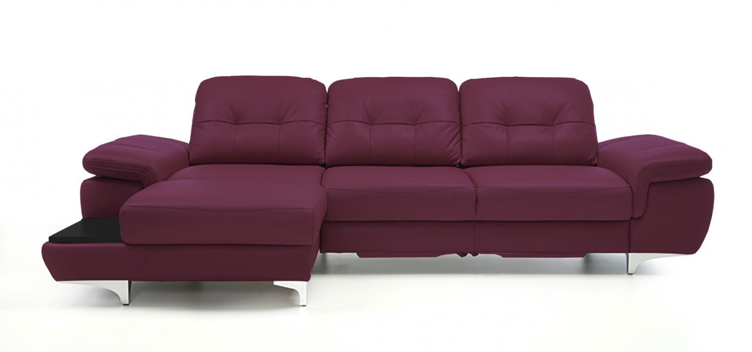 Rohová sedací souprava Rohová sedačka rozkládací Move levý roh (černá/kůže)