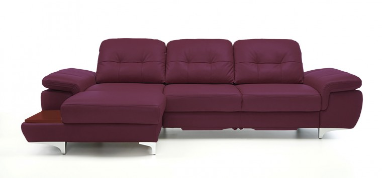 Rohová sedací souprava Rohová sedačka rozkládací Move levý roh (mahagon/kůže)