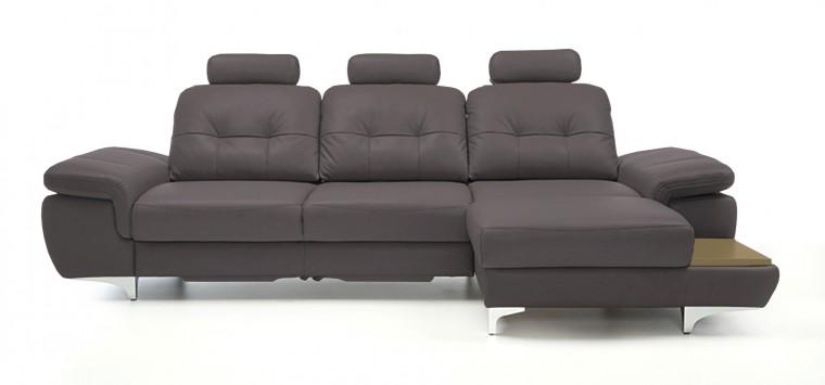 Rohová sedací souprava Rohová sedačka rozkládací Move pravý roh, 3xP (dub/eko kůže)