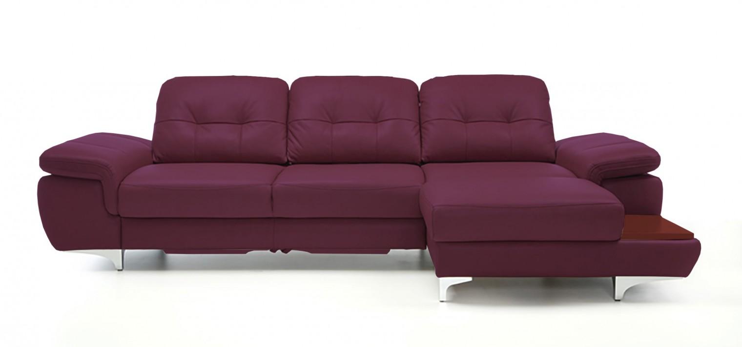 Rohová sedací souprava Rohová sedačka rozkládací Move pravý roh (mahagon/kůže)