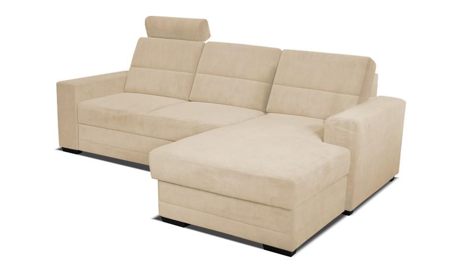 Rohová sedací souprava Rohová sedačka rozkládací Nelson pravý roh 2L (látka)