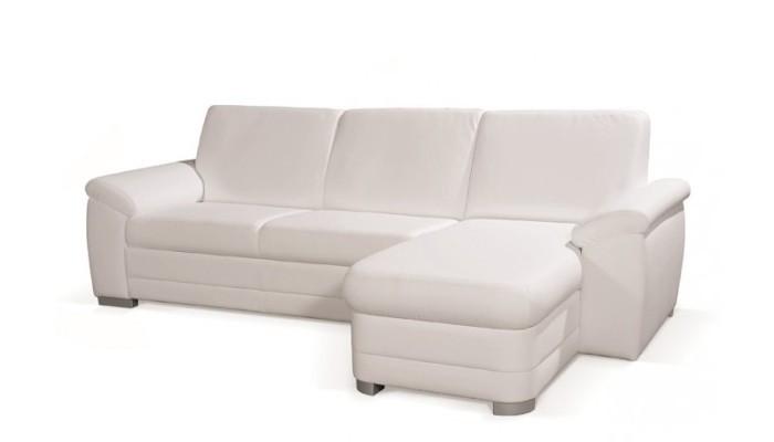 Rohová sedací souprava Rohová sedačka rozkládací Nuuk pravý roh 3FB+OSBP (eko kůže)