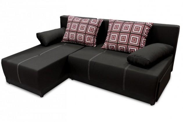 Rohová sedací souprava Rohová sedačka rozkládací Picolo I univerzální roh ÚP černá