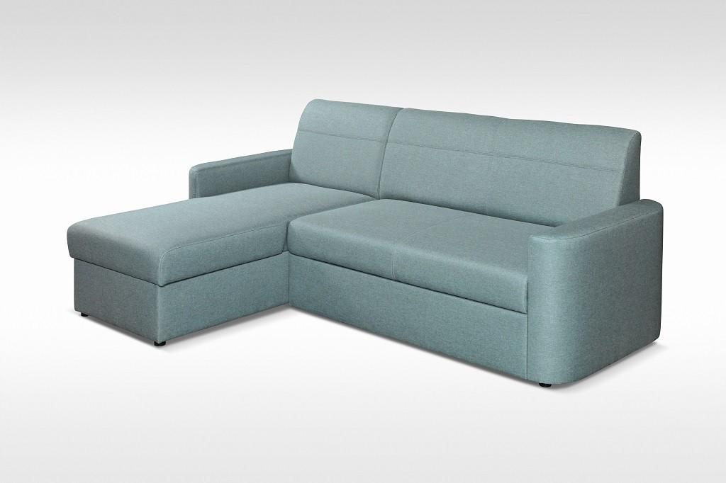 Rohová sedací souprava Rohová sedačka rozkládací Primo univerzální roh ÚP, modrá
