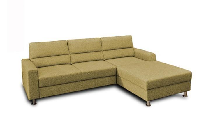 Rohová sedací souprava Rohová sedačka rozkládací Seven pravý roh (látka)