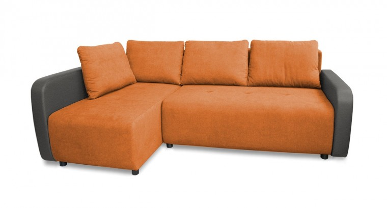 Rohová sedací souprava Rohová sedačka rozkládací Siena levý roh (korpus-bella 14,látka)