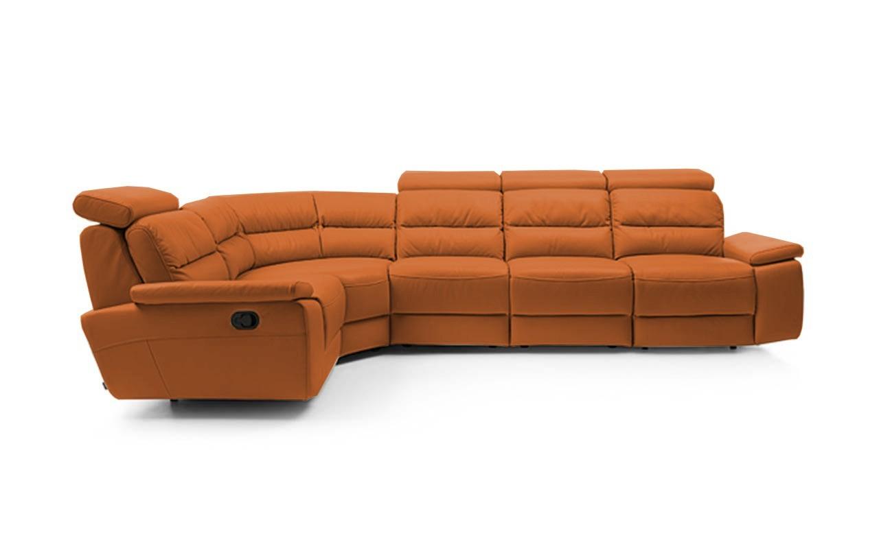 Rohová sedací souprava Rohová sedačka rozkládací Stella levý roh (kůže)