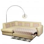 Rohová sedací souprava rozkládací Larry (white E180)
