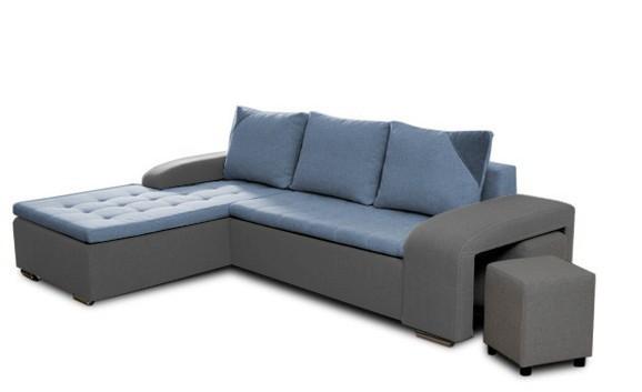 Rohová sedací souprava Simple plus - levý roh + 2x taburet (inari 91/inari 81)