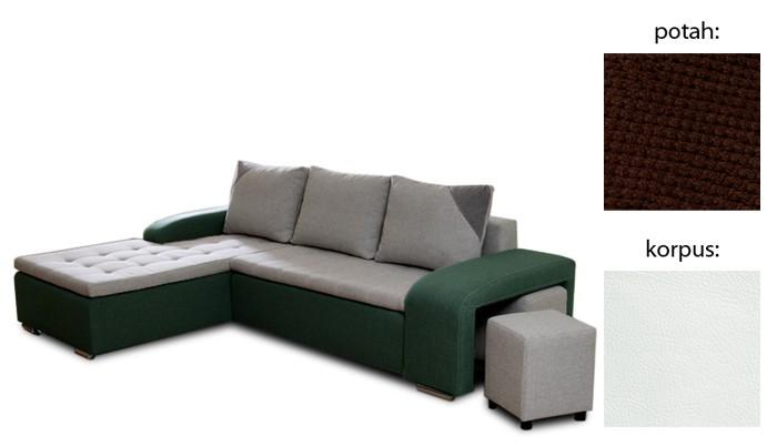 Rohová sedací souprava Simple plus - levý roh (cross 25 sk.3 sedák/giovanni 1 sk.3)