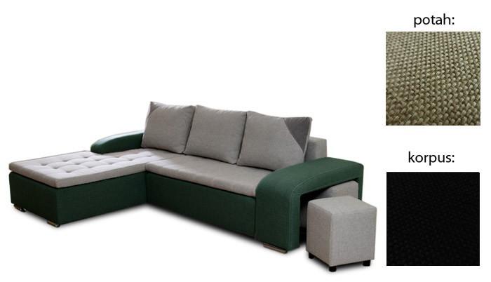 Rohová sedací souprava Simple plus - levý roh (inari 23 sk.3 sedák/inari 100 sk.3)