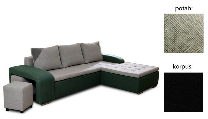 Rohová sedací souprava Simple plus - pravý roh (inari 22 sk.3 sedák / inari 100 sk.3)