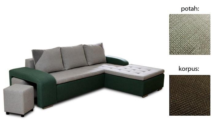 Rohová sedací souprava Simple plus - pravý roh (inari 22 sk.3 sedák / inari 28 sk.3)
