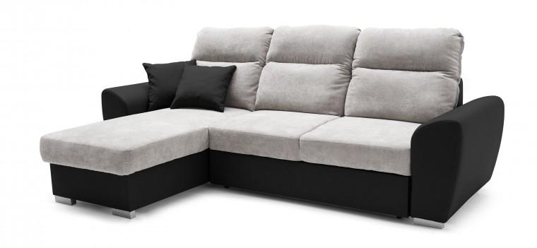 Rohová sedací souprava Stilo - roh levý (soft 11, korpus/dot 90, sedák)
