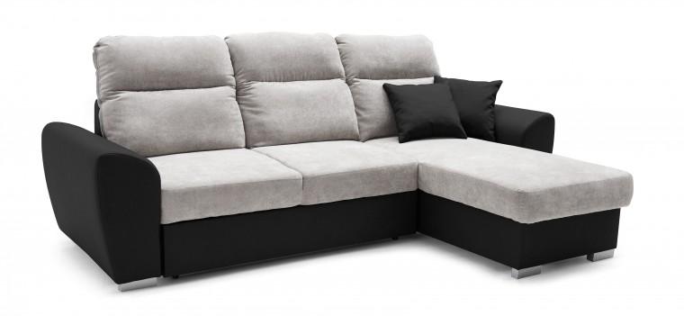 Rohová sedací souprava Stilo - roh pravý (soft 11, korpus/dot 90, sedák)