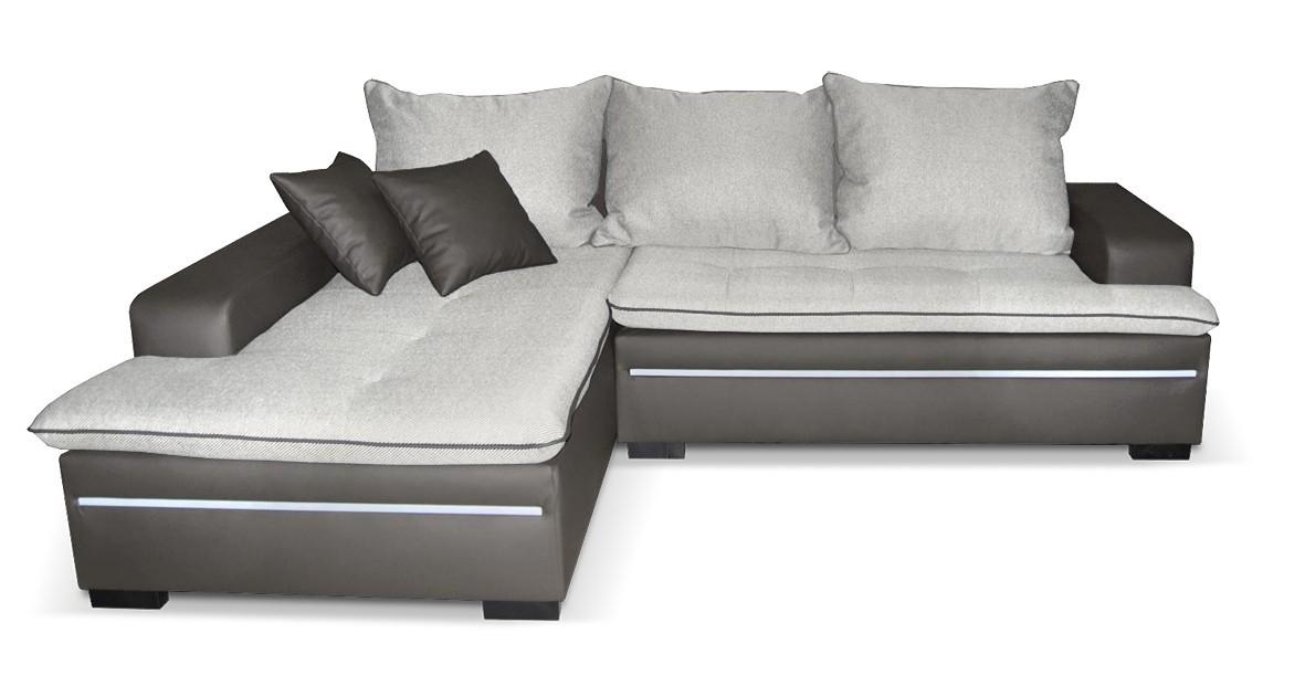 Rohová sedací souprava Volt - Roh levý,rozkl.,úl. pr.,LED (balaton90/cayenne1118)