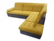 Rohová sedačka Glamour pravý roh (lucy grau / lucy apple)