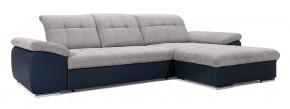 Rohová sedačka rozkládací Ateca pravý roh ÚP šedá, modrá
