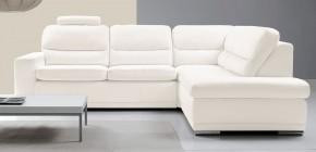 Rohová sedačka rozkládací Bono pravý roh bílá