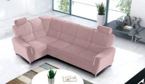 Rohová sedačka rozkládací Duo Panama levý roh růžová