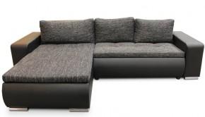 Rohová sedačka rozkládací Enro univerzální roh ÚP černá, šedá